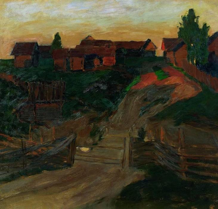 Last rays of the sun. 1899. Isaac Ilyich Levitan