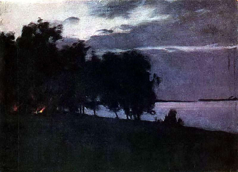 Костер. 1890-е. Исаак Ильич Левитан