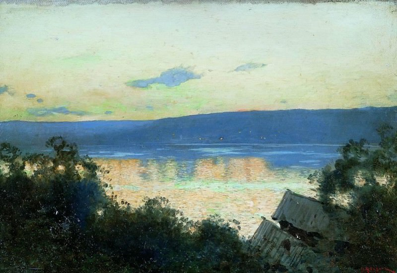 evening on the Volga 1. 1888. Isaac Ilyich Levitan