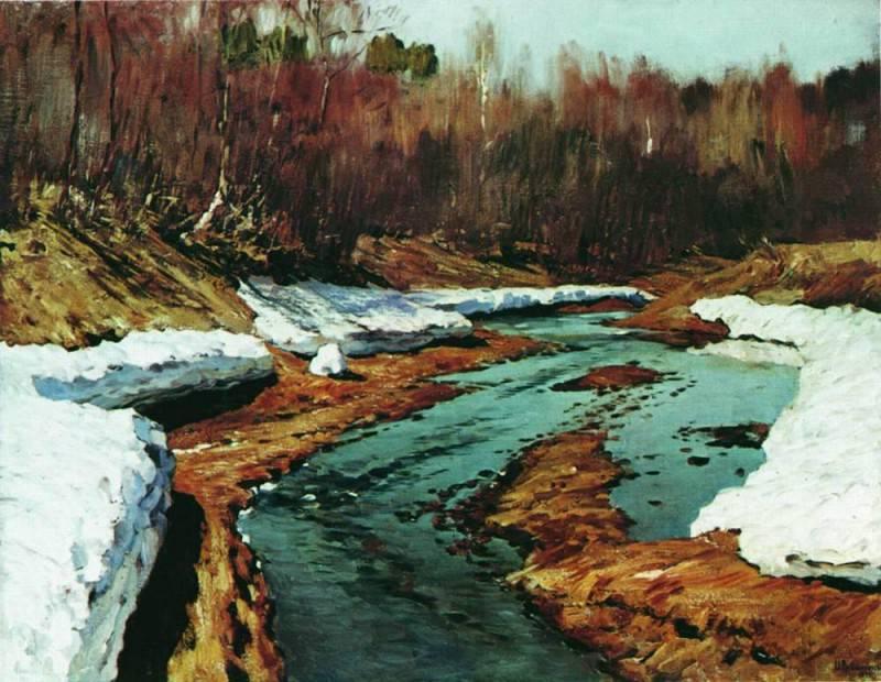 Spring. Last snow: 1. 1895. Isaac Ilyich Levitan