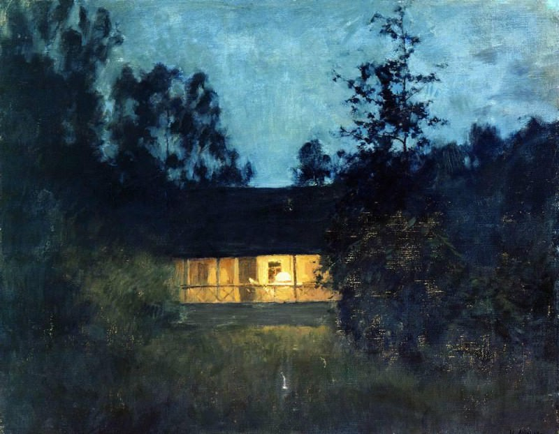 In the country at dusk. 1890. Isaac Ilyich Levitan