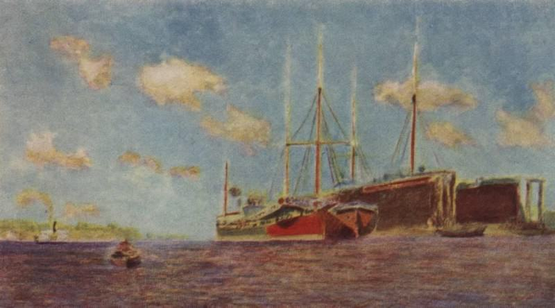 Свежий ветер. Волга. 1890. Исаак Ильич Левитан