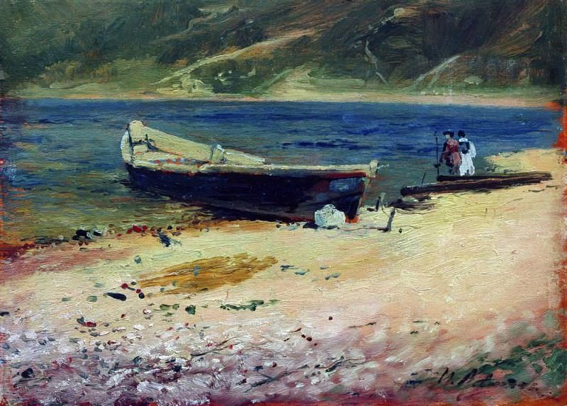 boat on the shore. 1880. Isaac Ilyich Levitan