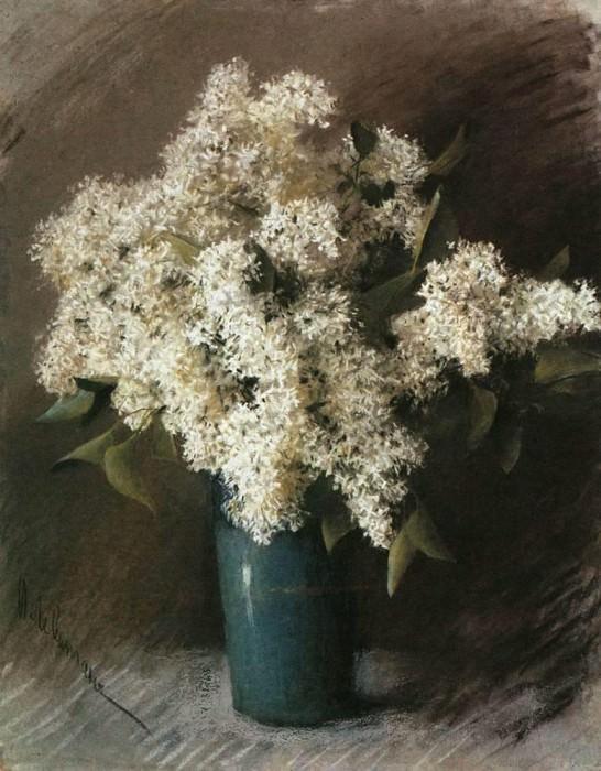 Белая сирень. 1895. Исаак Ильич Левитан