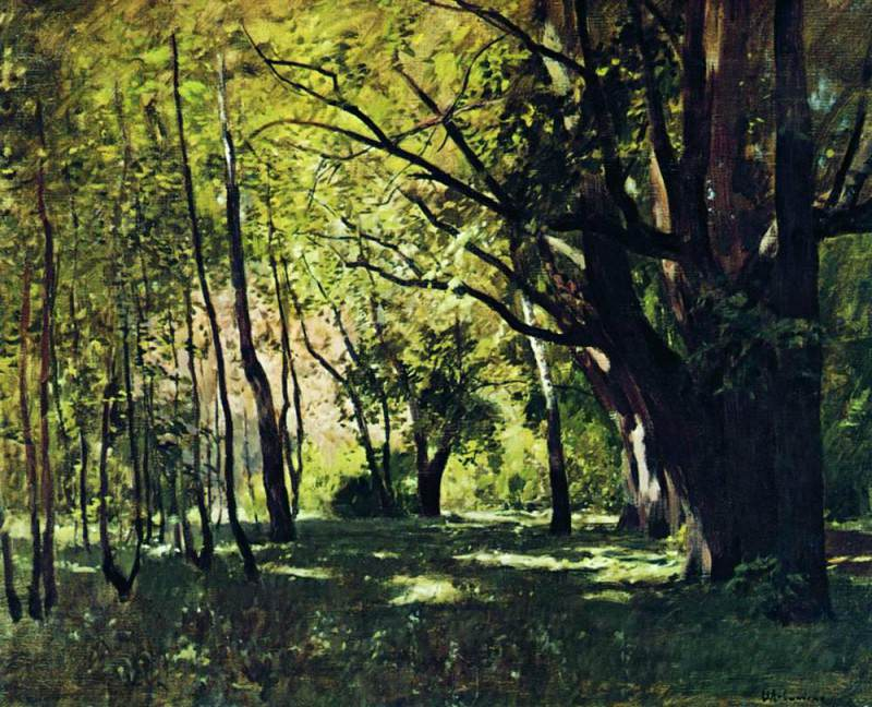 In the Park 1. 1895. Isaac Ilyich Levitan