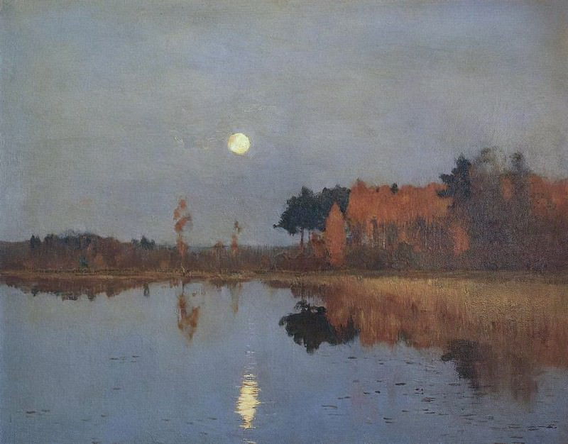 The Twilight Moon. Isaac Ilyich Levitan