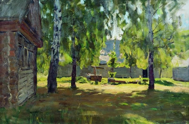 Sunny day. At the hut. 1898. Isaac Ilyich Levitan