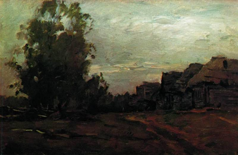 Village. Twilight. 1897. Isaac Ilyich Levitan