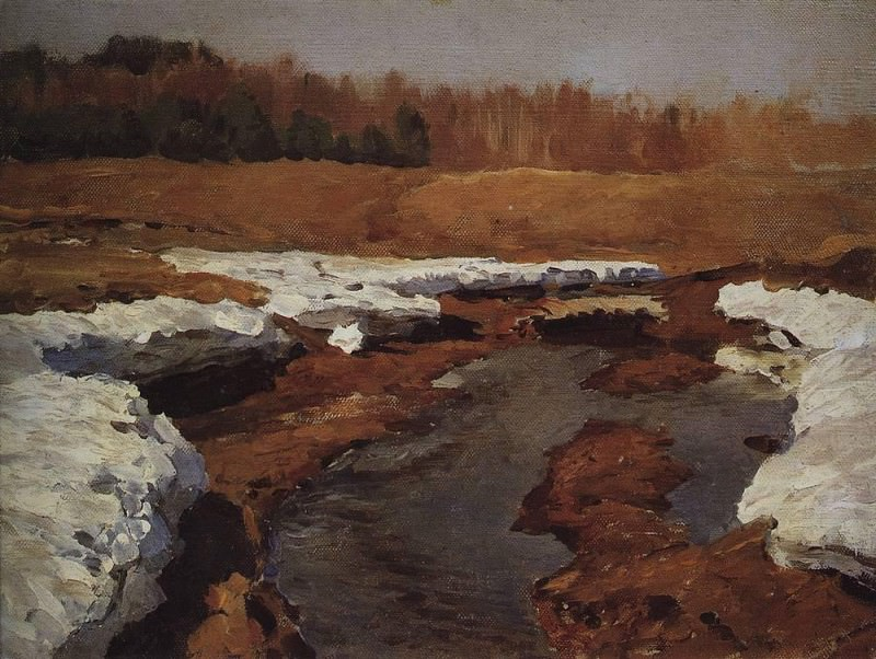 Spring. Last snow 2. 1895. Isaac Ilyich Levitan