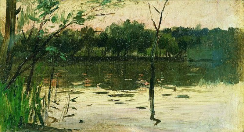 Landscape with a pink sunset. End of 1880. Isaac Ilyich Levitan