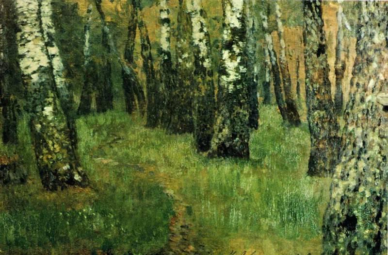 In the birch grove. 1880. Isaac Ilyich Levitan