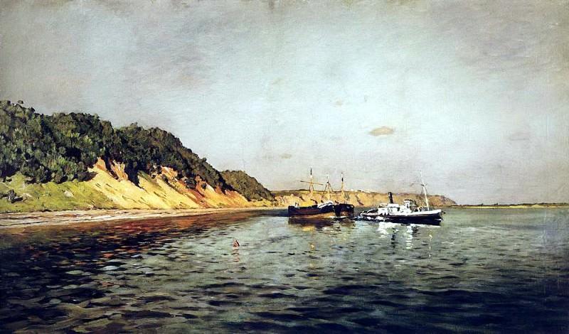 Volga. Quiet day. 1895. Isaac Ilyich Levitan