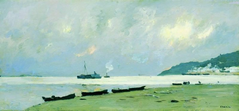 Yurevets. Cloudy day on the Volga. 1890. Isaac Ilyich Levitan