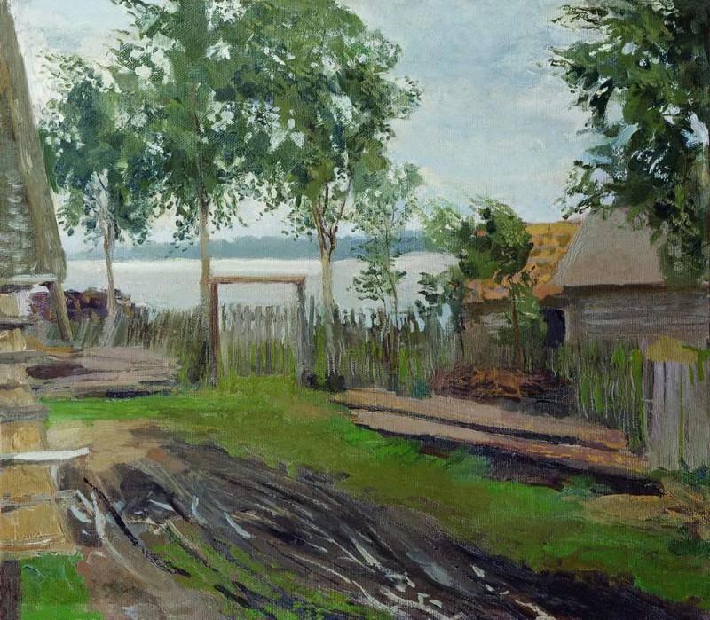 Yard. Isaac Ilyich Levitan