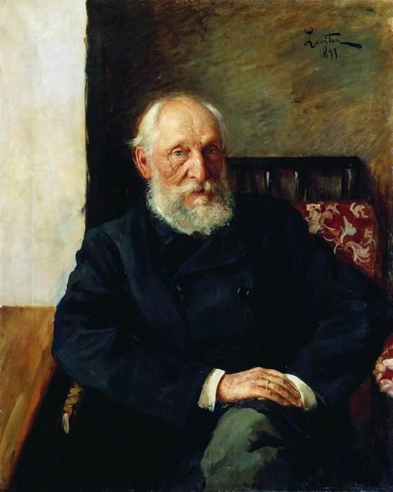 Portrait of NP Panafidina. 1891. Isaac Ilyich Levitan