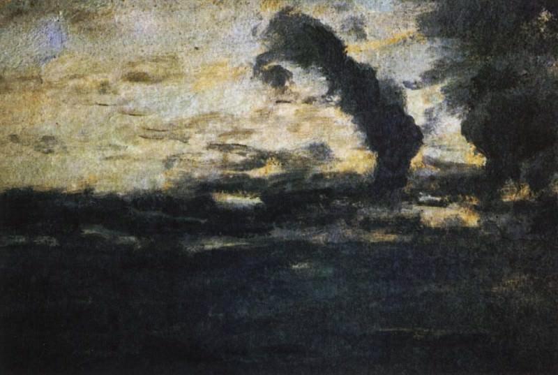 cloudy sky. Twilight. 1893. Isaac Ilyich Levitan