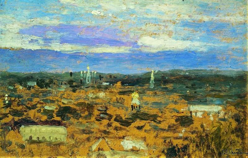 Пейзаж с монастырем. 1890-е. Исаак Ильич Левитан