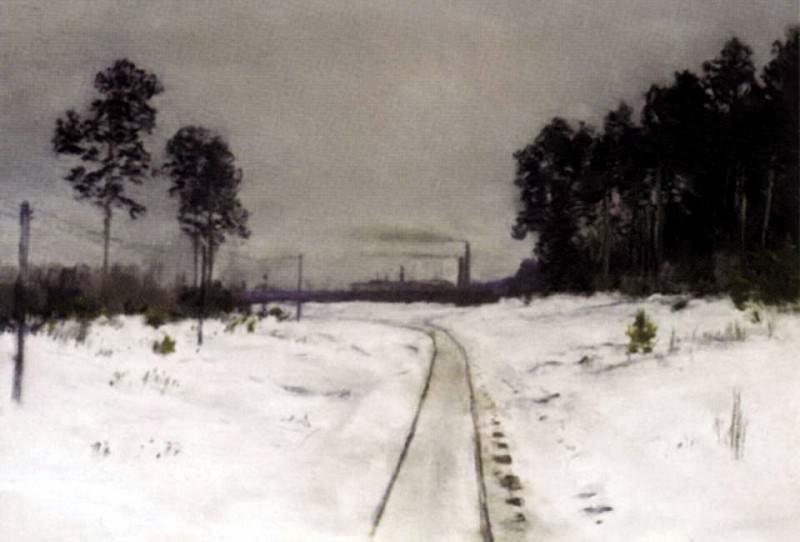 Grey day. Mid 1890. Isaac Ilyich Levitan