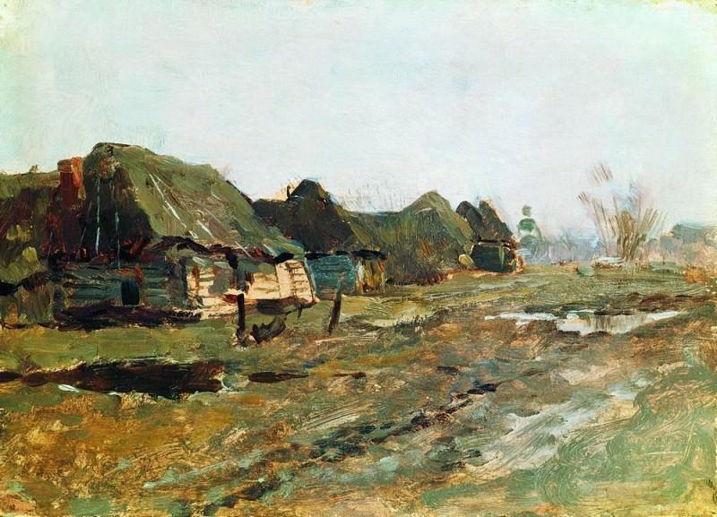 Постой в деревне. 1890-е. Исаак Ильич Левитан