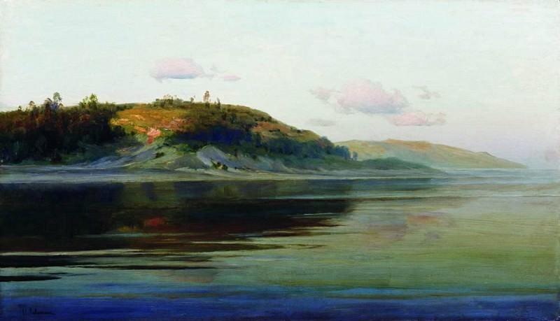 Summer evening. River. 1890-1896. Isaac Ilyich Levitan