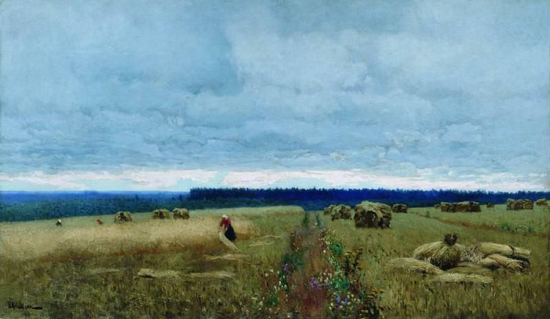 Сумрачный день. Жнивье. 1890-е. Исаак Ильич Левитан