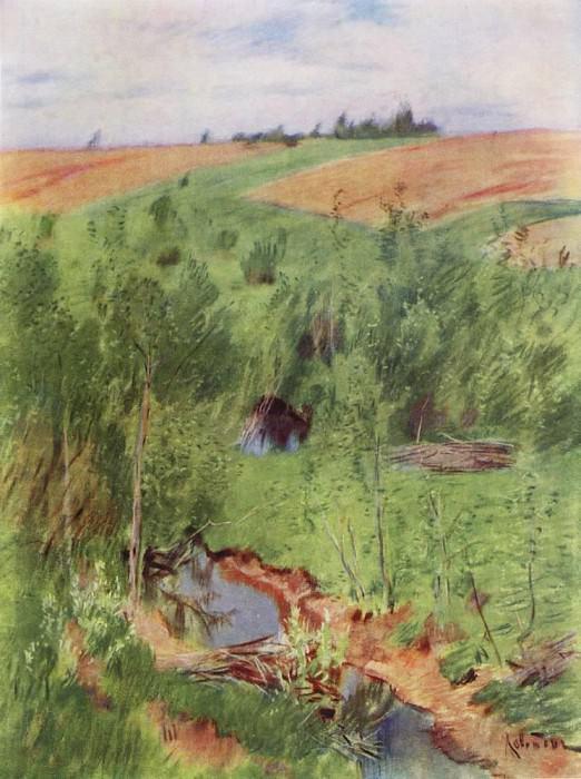 V stream. 1899. Isaac Ilyich Levitan