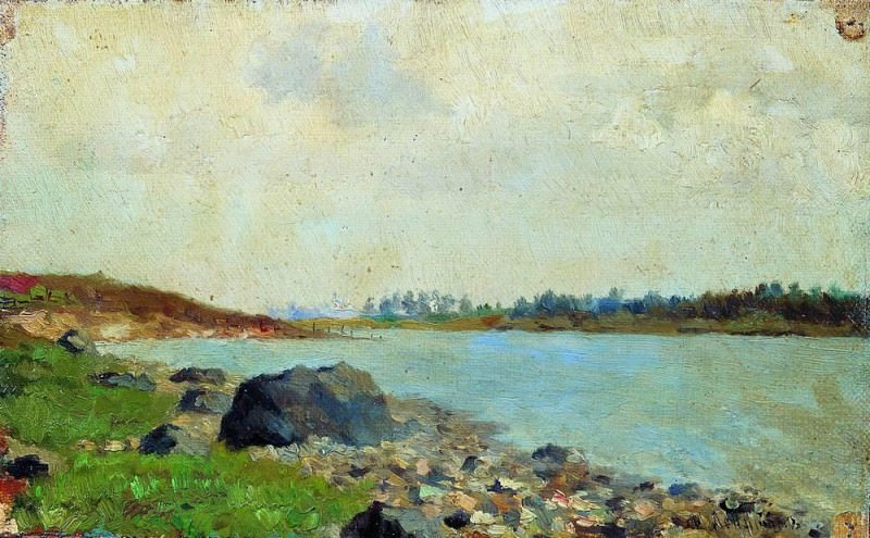 On the Moscow River. 1877. Isaac Ilyich Levitan