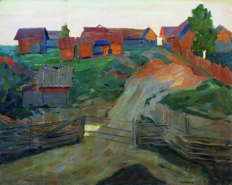Entrance to the village. End 1890. Isaac Ilyich Levitan