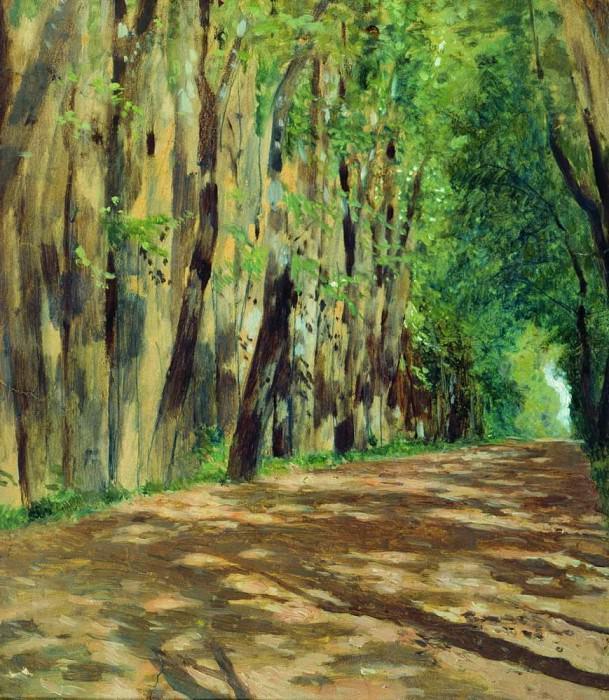 Alley. Beginning 1880. Isaac Ilyich Levitan