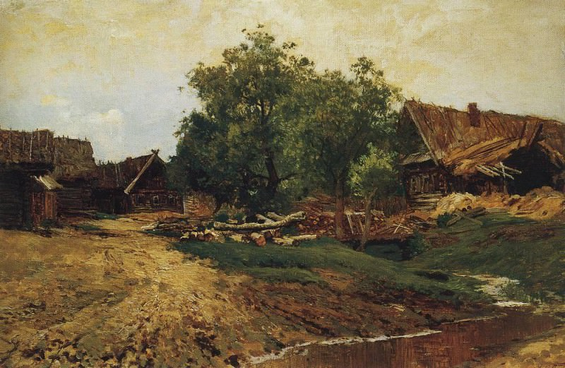 Savvinskaya settlement near Zvenigorod (summer species). 1884. Isaac Ilyich Levitan