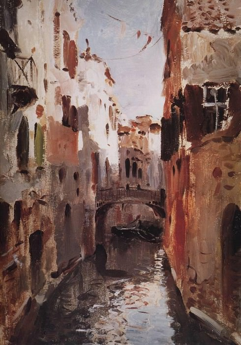 Canal in Venice. 1890. Isaac Ilyich Levitan