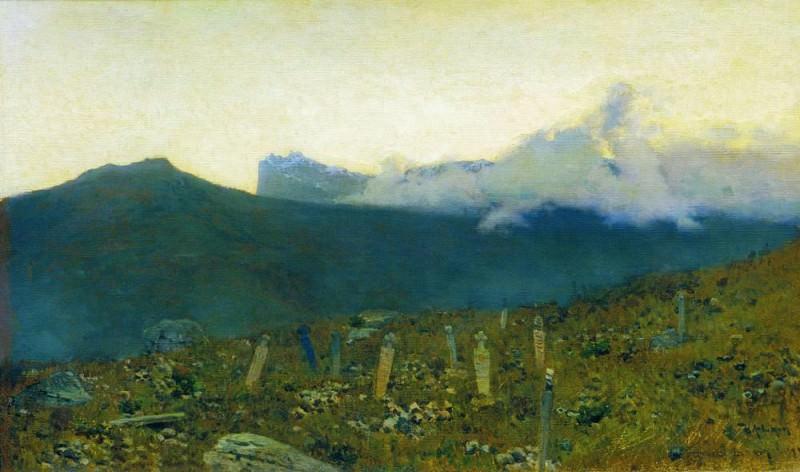 Tatar cemetery. Crimea. 1886. Isaac Ilyich Levitan