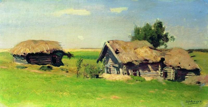 Landscape with cottages. 1885. Isaac Ilyich Levitan