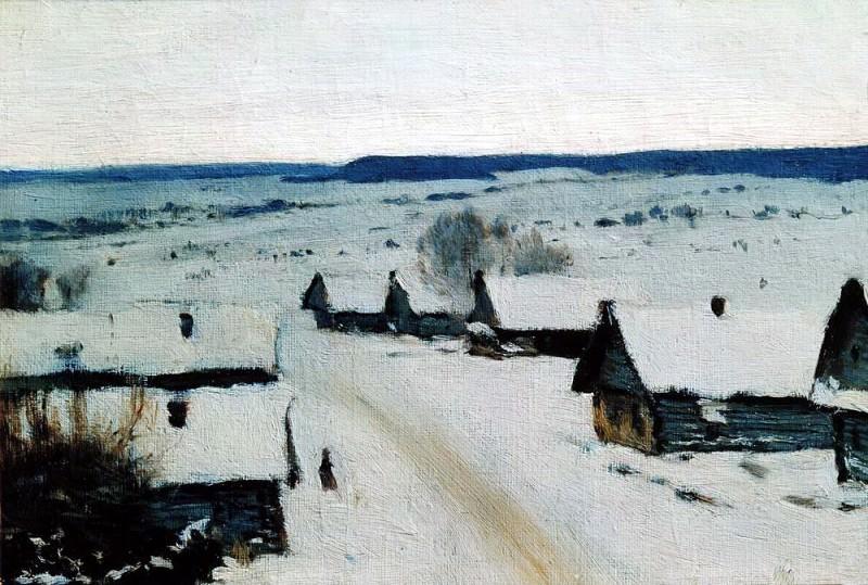 Village. Winter. 1877-1878. Isaac Ilyich Levitan