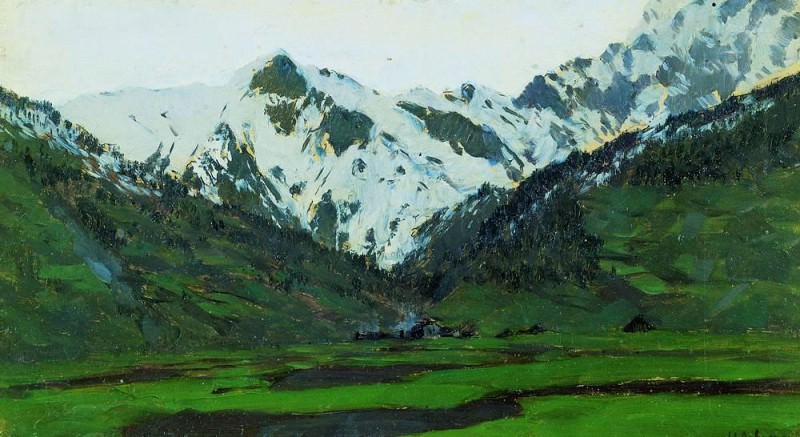 In the Alps in the spring. 1897. Isaac Ilyich Levitan