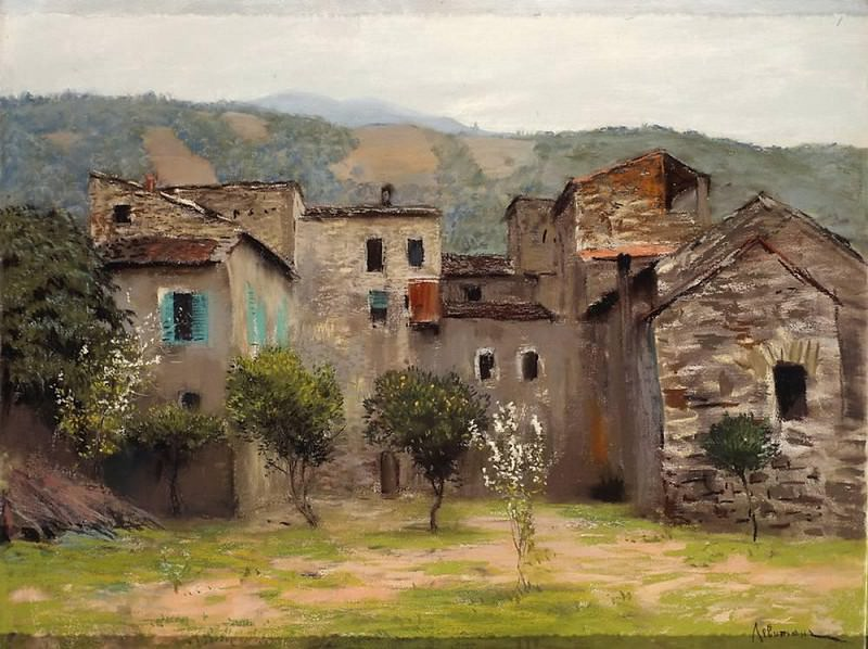 Near Bordighera. In northern Italy, 2. 1890. Isaac Ilyich Levitan