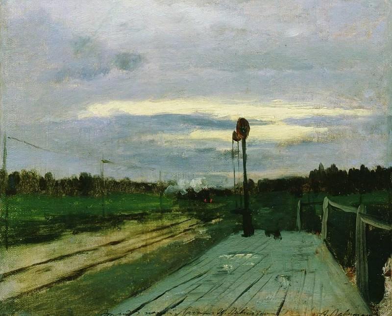 Station. 1880. Isaac Ilyich Levitan