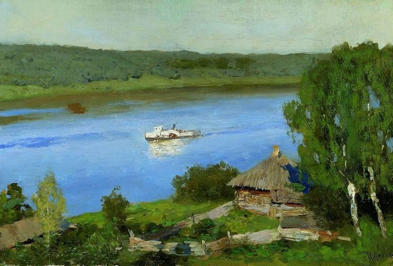 Landscape with a boat. End of 1880. Isaac Ilyich Levitan