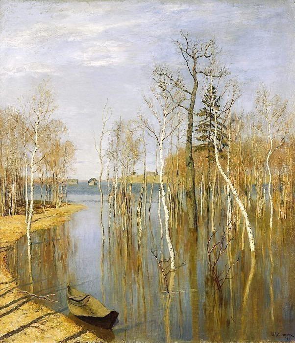 Весна - большая вода. Исаак Ильич Левитан