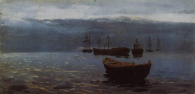 On the Volga. By the evening. 1888. Isaac Ilyich Levitan