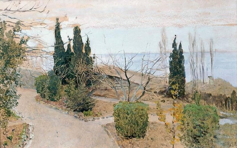 Sadiq in Yalta. Cypress. 1886. Isaac Ilyich Levitan