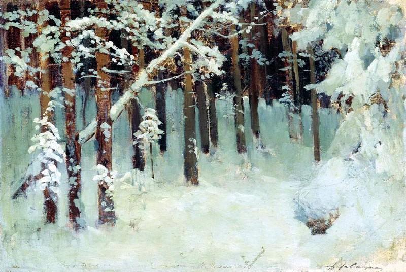 Forest in winter. 1880. Isaac Ilyich Levitan