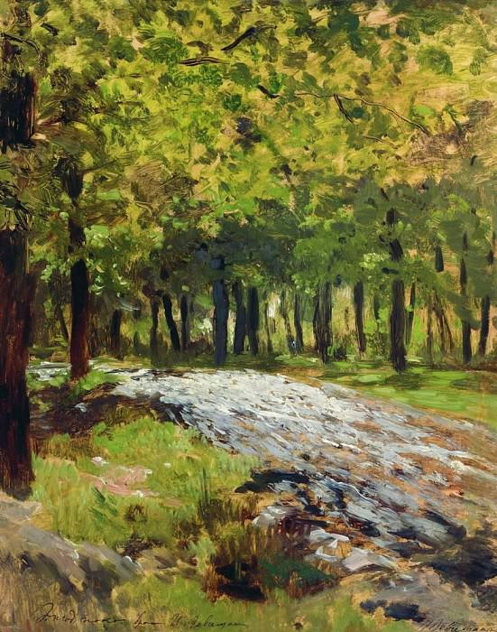 Road in the woods. 1880. Isaac Ilyich Levitan