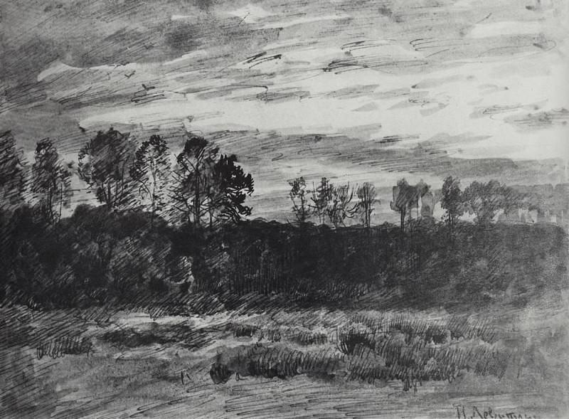 Evening. Sunset. 1890. Isaac Ilyich Levitan