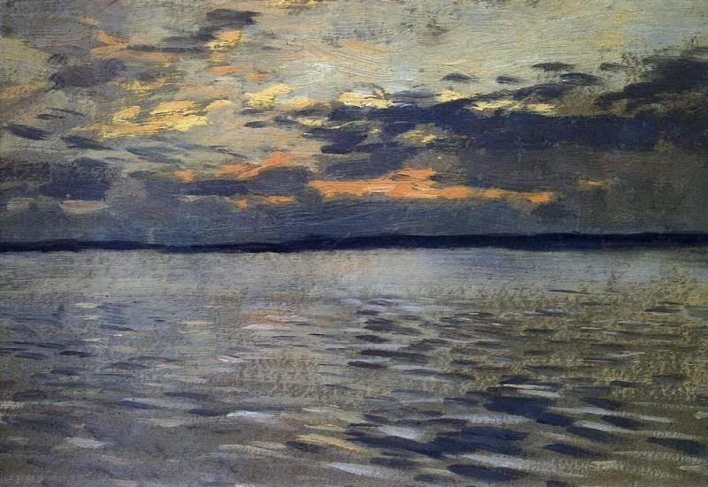 Lake. Evening. 1890. Isaac Ilyich Levitan