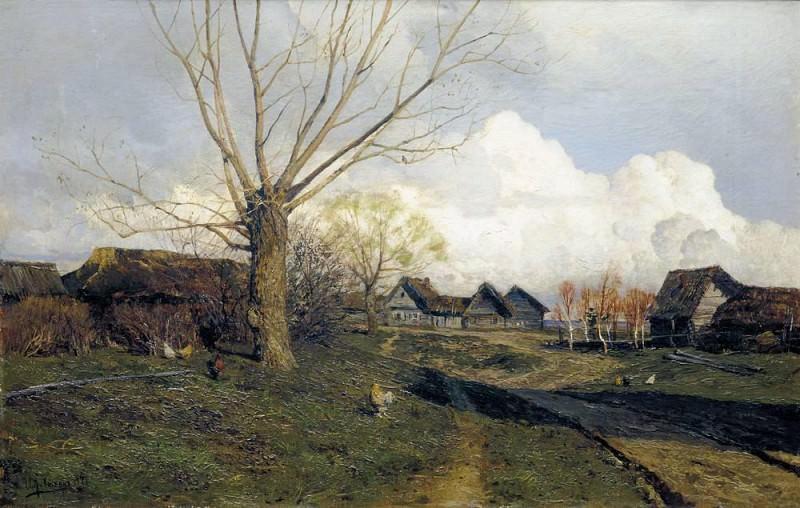 Savvinskaya settlement near Zvenigorod 1. 1884. Isaac Ilyich Levitan
