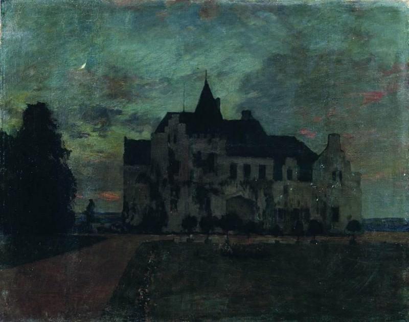 Twilight. Castle. 1898. Isaac Ilyich Levitan