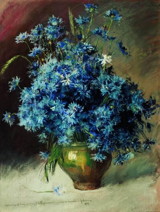 Cornflowers. 1894. Isaac Ilyich Levitan