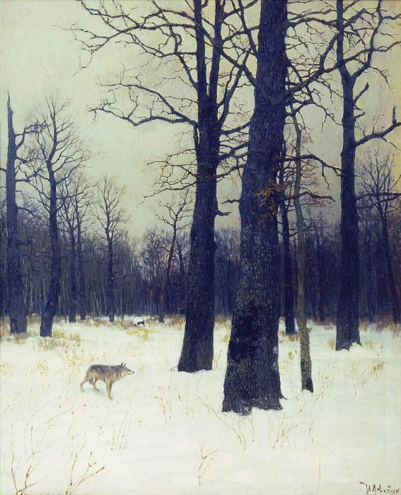 Winter in the woods. 1885. Isaac Ilyich Levitan