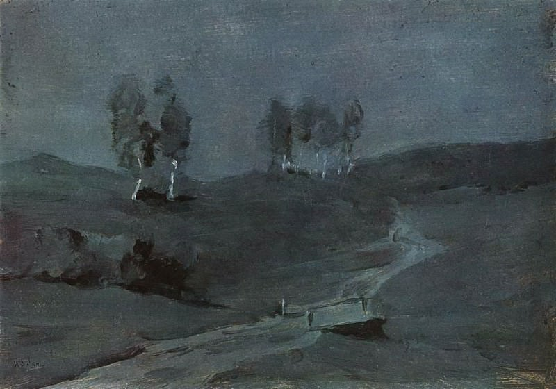 Shadows. Moonlit Night. 1880. Isaac Ilyich Levitan